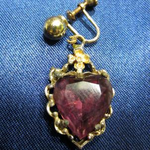 Purple stone earring