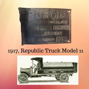 1917 Truck ID Plate