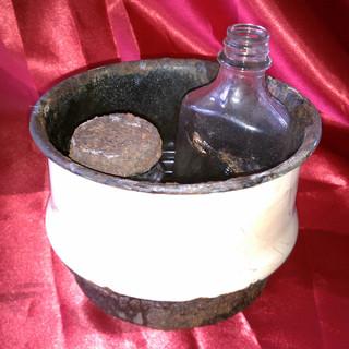 Vintage Porcelain Bowl and Bottles