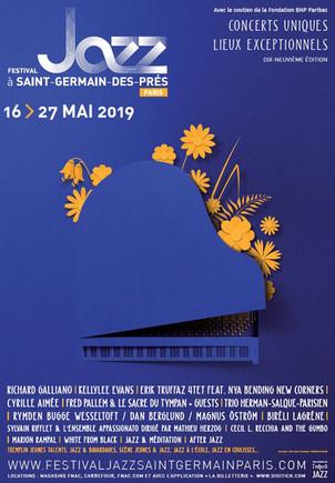 Festival jazz a Saint-Germain-des-prés Paris : du 16 au 27 Mai 2019 .