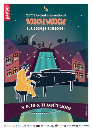 Festival de boogie de Laroquebrou (Cantal) du 8 au11 Aôut 2019