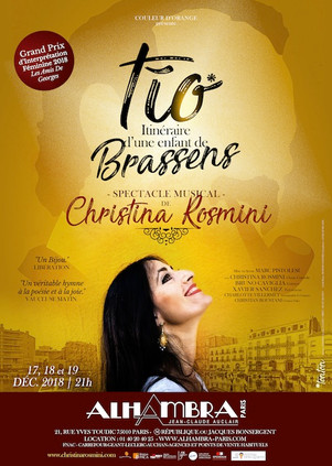 """Christina ROSMINI:"""" TIO, itinéraire d'une enfant de Brassens"""" au festival d'Avignon 2019 au Cabestan"""