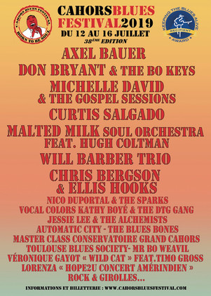 CAHORS BLUES FESTIVAL : du 12 au 16 Juillet prochain