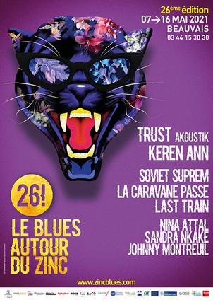"""Festival """"blues autour du zinc"""" 2021 .du 7 au 16 Mai 2021"""