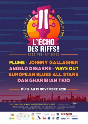 du 12 au 15 Novembre : festival l'ECHO DES RIFFS festival -Avignon .Festival reporté