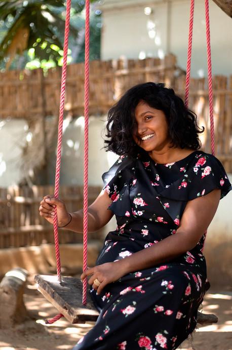 Lavina on swing   Mysore