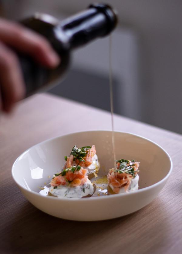 Atelier culinaire • Pomme de terre grenaille, sauce aneth & saumon