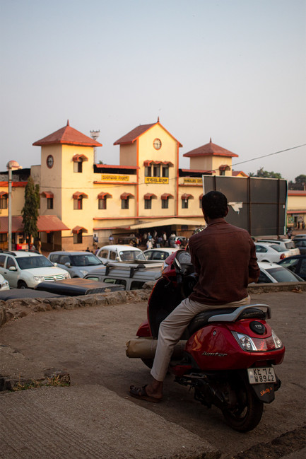 Man on scootie   Mangalore