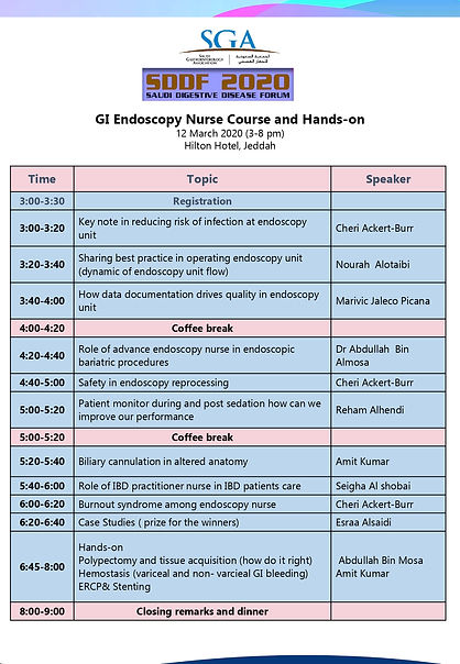 SDDF2020 Workshop - GI Nursing Endoscopy