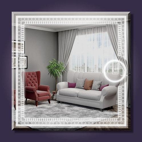 Square & Circle Led Mirror