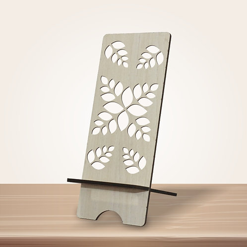 Patterned Leaves Mobile Stand