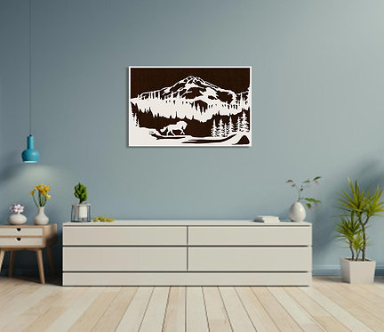 Horse and Mountain Wall Hanging