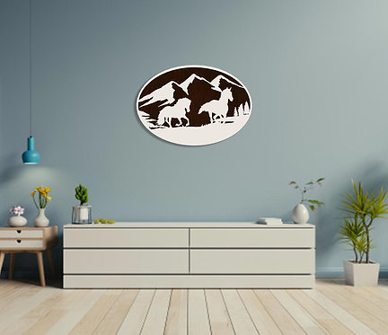 Running Horse Wall Hanging