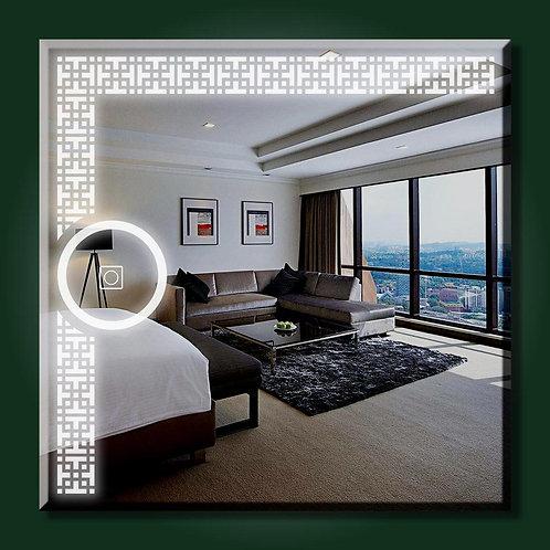 square dot pattern Led Mirror