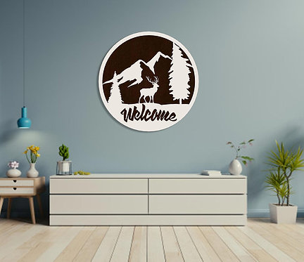 "THE MOUNT. EVEREST ""Welcome"" Wall Hanging"