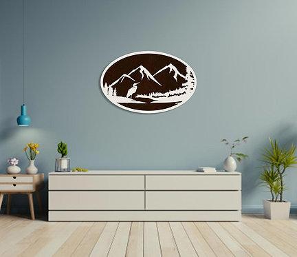 Mountain Range Wall Hanging
