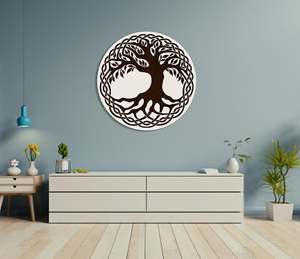 Tree and Leaves Wall Hanging