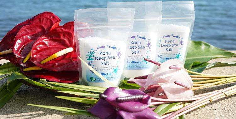 Kona Deep Sea Salt : 6oz-170g, set of 3