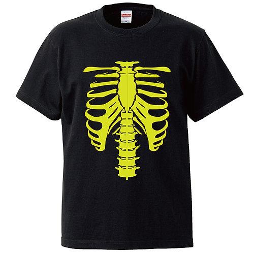 [OMOROTOY.Lab]ボーンTシャツ-ブラック/イエロー