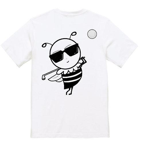 【LAVIEL】ミツパチーノゴルフTシャツ-BACKPRINT