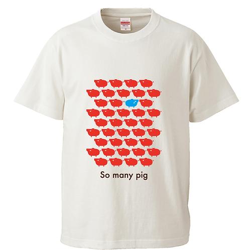 [OMOROTOY.Lab]レッドPIGTシャツ