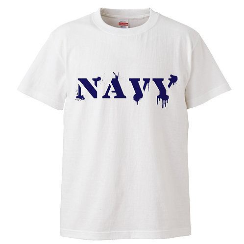[OMOROTOY.Lab]NAVY-Tシャツ-ホワイト