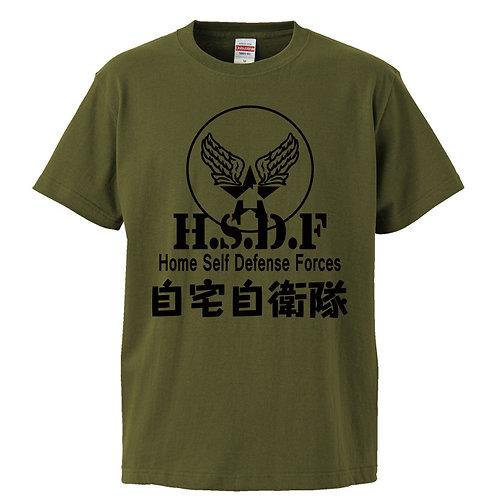 [OMOROTOY.Lab]自宅自衛隊Tシャツ-カーキ
