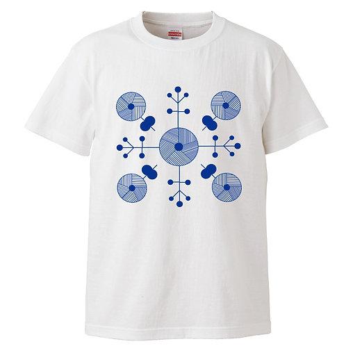 [OMOROTOY.Lab]エスニックTシャツ-ホワイト