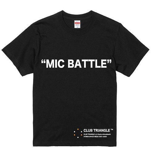 [CLUB TRIANGLE ]MIC BATTLE T-shirt
