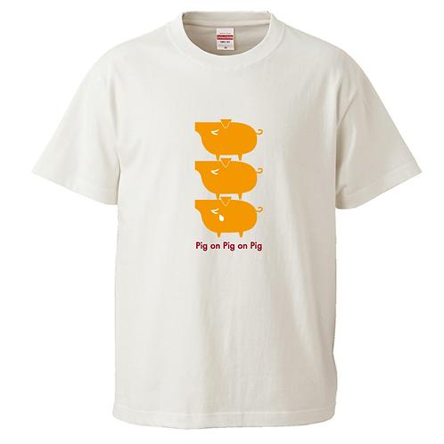 [OMOROTOY.Lab]PIG-YELLOWTシャツ