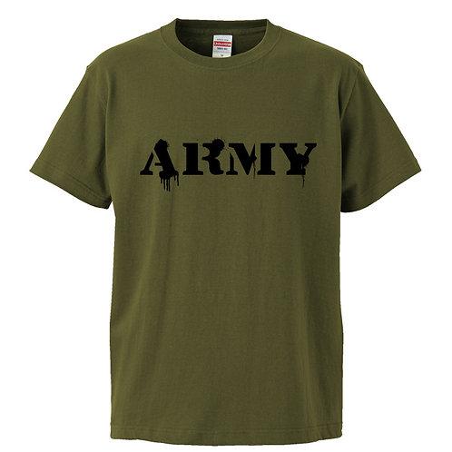 [OMOROTOY.Lab]ARMYTシャツ-カーキ