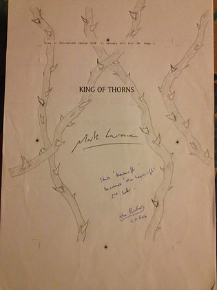 Mark Lawrence King of Thorns Signed Manuscript