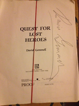 David Gemmell Quest for Lost Heroes Manuscript