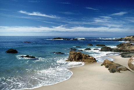 Relaxing beach scene