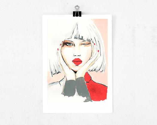 Art print - Wink