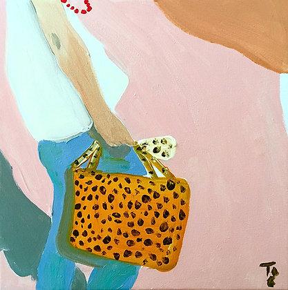 Painting - Leopard Bag