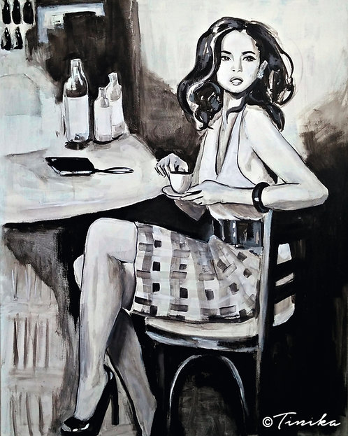 Painting - In the café