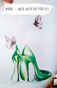 Tinika mural: walk with butterflies
