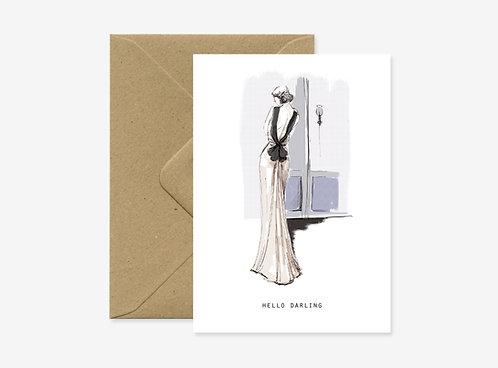Card - Evening dress