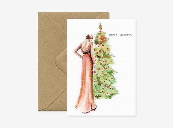 Card - Christmas tree