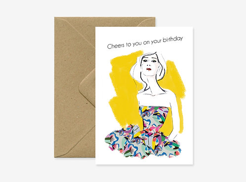 Card - Cheers to you on your birthday