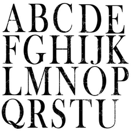 IOD Decor Stempel Buchstaben - 2er Set