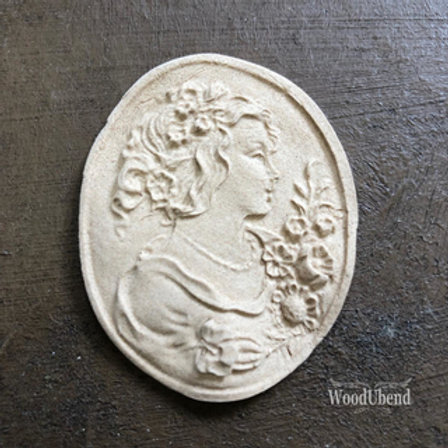 WoodUbend Medaillon little Lady 5x4 cm