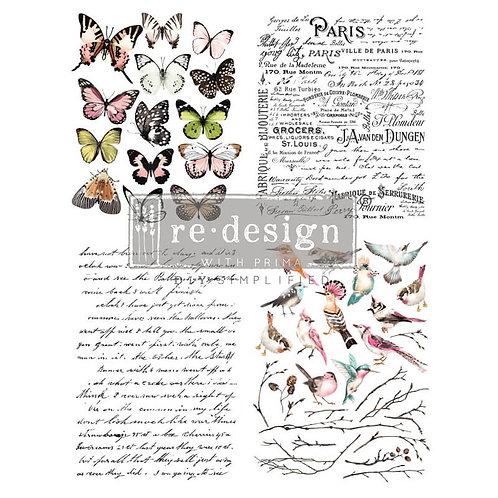 Dekor Transferfolie Parisian Butterflies