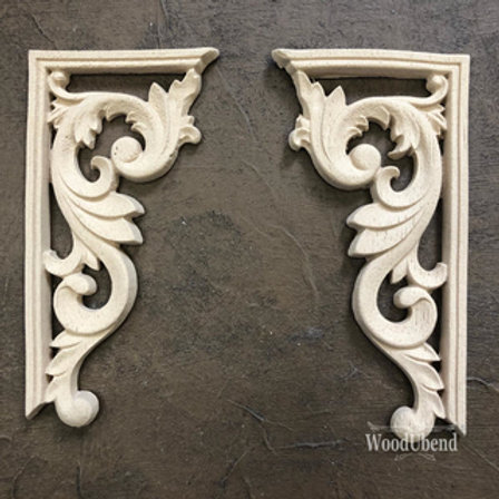 WoodUbend Barock Corner 2pcs. - SET ; 12,5 x 6,5 cm