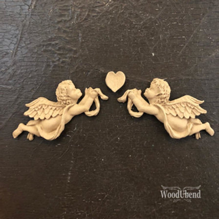 WoodUbend small Angel - Set - 16 x 3 cm