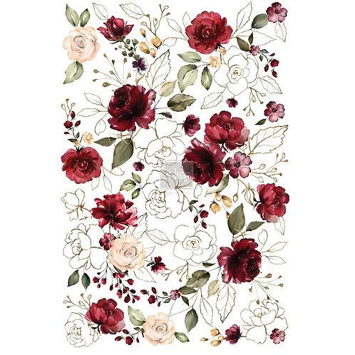 Dekor Transferfolie Midnight Floral