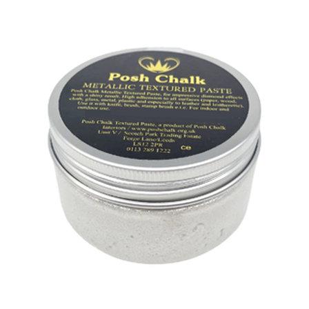 Posh Metallic Textured Paste -Pearl White-