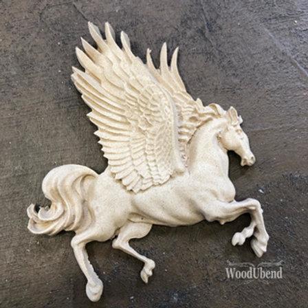 WoodUbend horse with wings 7x8 cm