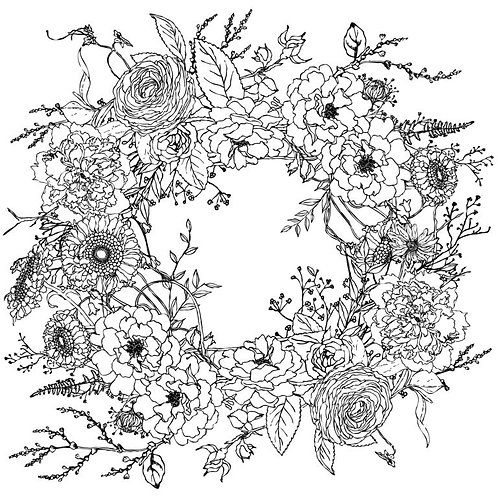 "IOD Paintable Decor Transfers ""Winter´s Song Wreath"""